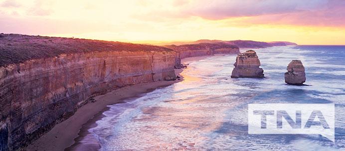 12 Apostles at Sunset, on the East Coast of Australia