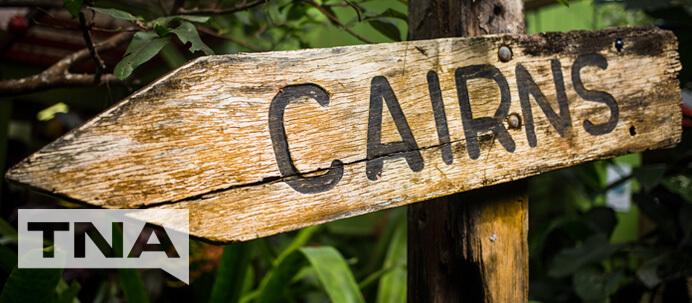 Cairns Sign in North Queensland Australia