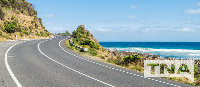 The Great Ocean Road Winding Around the Eastern Coast of Australia