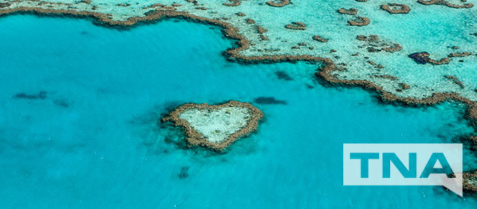 Photograph of Heart Reef in The Great Barrier Reef, East Coast Australia