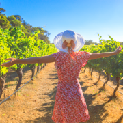 Woman in the Sun in a Winery in Margaret River Western Australia - Thumbnail