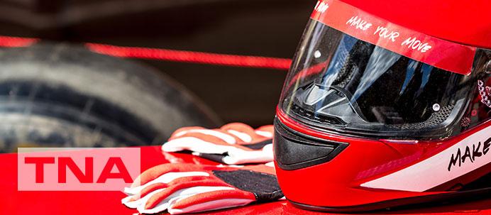 Motorcycle helmet and gloves
