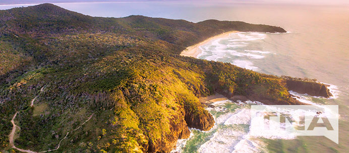 Aerial Photograph of Noosa National Park Eastern Australia
