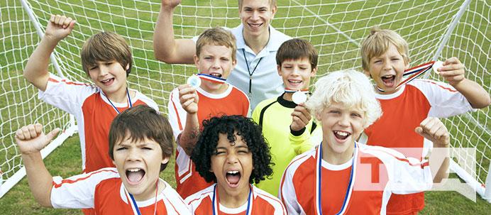 Winning Boys Soccer Team