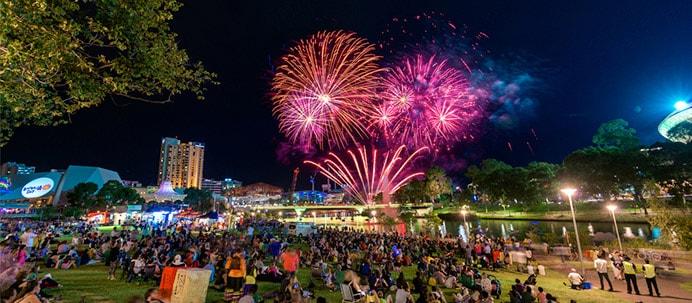 adelaide fireworks event